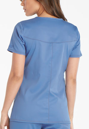Dickies Essence Mock Wrap Top in Ciel Blue (DK804-CIE)