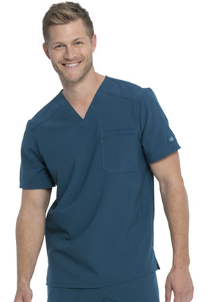 Dickies Retro Men's Tuckable V-Neck Top in Caribbean Blue (DK810-CAR)