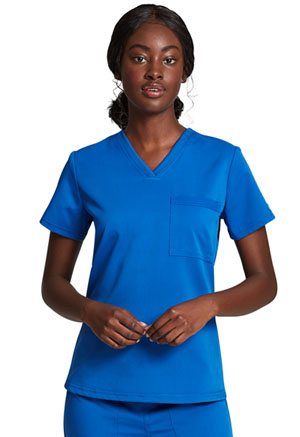 Dickies Balance Tuckable V-Neck Top in Royal (DK812-ROY)