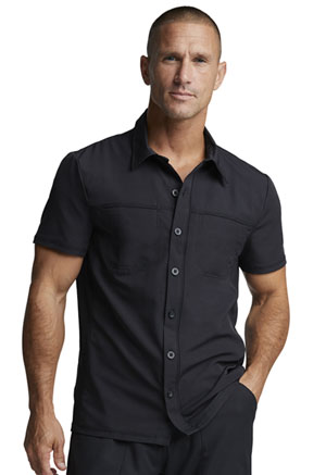Dickies Dynamix Men's Button Front Collar Shirt in Black (DK820-BLK)