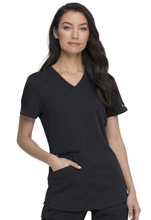 Dickies Balance Mock Wrap Top in Black (DK840-BLK)