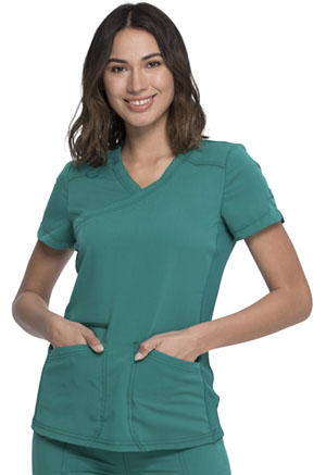 Dickies Mock Wrap Top Hunter Green (DK840-HUN)