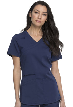 Dickies Balance Mock Wrap Top in Navy (DK840-NAV)