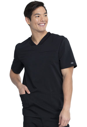 Dickies Balance Men's V-Neck Top in Black (DK845-BLK)