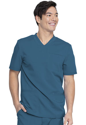 Dickies Balance Men's V-Neck Top in Caribbean Blue (DK845-CAR)