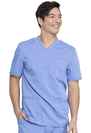 Dickies Balance Men's V-Neck Top in Ciel Blue (DK845-CIE)