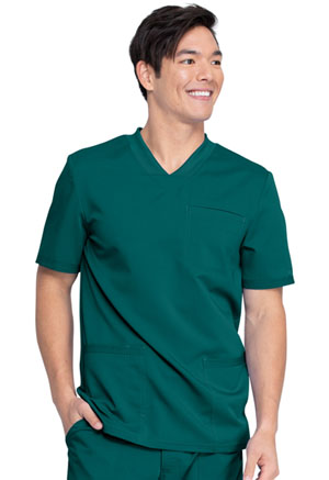 Dickies Balance Men's V-Neck Top in Hunter Green (DK845-HUN)