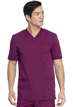 Dickies Balance Men's V-Neck Top in Wine (DK845-WIN)