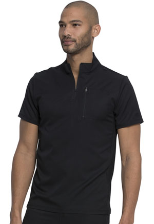 Dickies Dynamix Men's Tuckable Popover Top in Black (DK860-BLK)