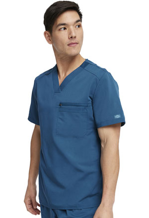 Dickies Balance Men's Tuckable V-Neck Top in Caribbean Blue (DK865-CAR)