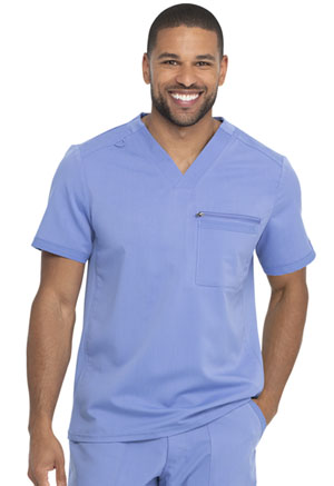 Dickies Balance Men's Tuckable V-Neck Top in Ciel Blue (DK865-CIE)
