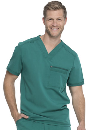 Dickies Balance Men's V-Neck Top in Hunter Green (DK865-HUN)
