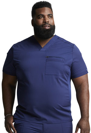 Dickies Balance Men's V-Neck Top in Navy (DK865-NAV)