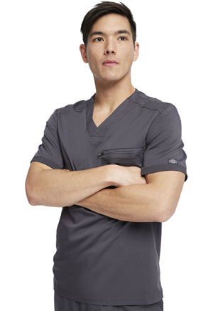 Dickies Balance Men's V-Neck Top in Pewter (DK865-PWT)