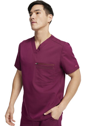Dickies Balance Men's Tuckable V-Neck Top in Wine (DK865-WIN)