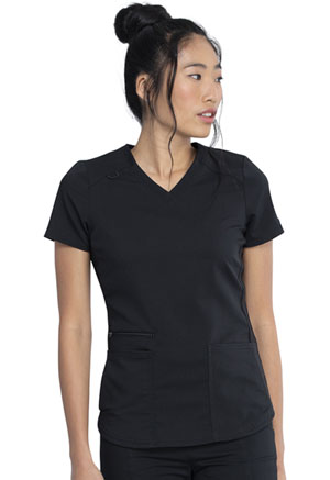 Dickies Balance V-Neck Top in Black (DK875-BLK)