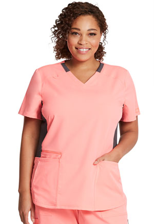 Dickies V-Neck Top Flamingo Pink (DK875-PKKL)