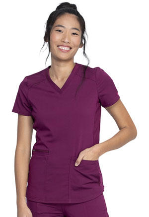 Dickies Balance V-Neck Top in Wine (DK875-WIN)