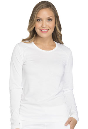 Dickies Dynamix Long Sleeve Underscrub Knit Tee in White (DK900-WHT)