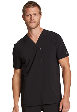 Dickies Retro Men's V-Neck Top in Black (DK930-BLK)