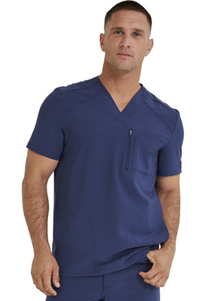 Dickies Retro Men's V-Neck Top in Navy (DK930-NAV)