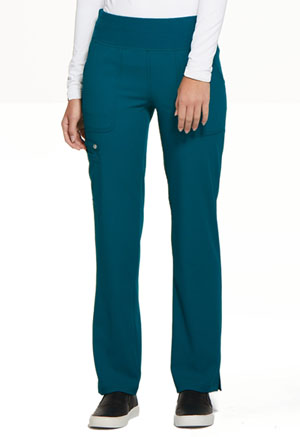 Elle Mid Rise Straight Leg Pull-on Pant Caribbean Blue (EL130-CAR)