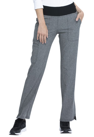 Elle Mid Rise Straight Leg Pull-on Pant Heather Grey (EL130-HGY)