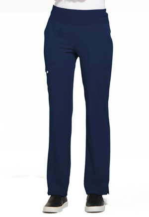 Simply Polished Mid Rise Straight Leg Pull-on Pant (EL130-NAV) (EL130-NAV)