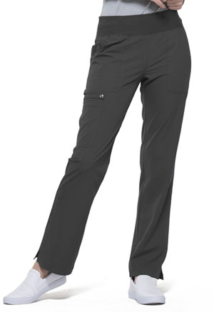 Simply Polished Mid Rise Straight Leg Pull-on Pant (EL130-PWT) (EL130-PWT)