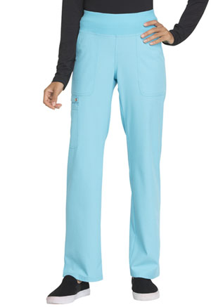 Mid Rise Straight Leg Pull-on Pant (EL130-TRQ)