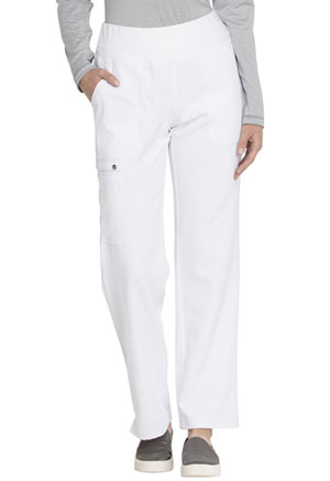 Elle Mid Rise Straight Leg Pull-on Pant White (EL130-WHT)