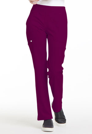 Elle Mid Rise Straight Leg Pull-on Pant Wine (EL130-WIN)