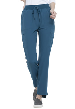 Elle Natural Rise Straight Leg Pant Caribbean Blue (EL167-CAR)