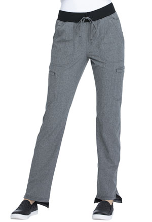 Simply Polished Natural Rise Straight Leg Pant (EL167-HGY) (EL167-HGY)