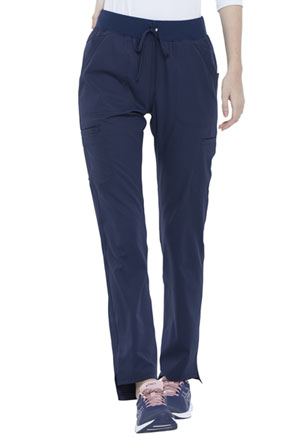 Simply Polished Natural Rise Straight Leg Pant (EL167-NAV) (EL167-NAV)
