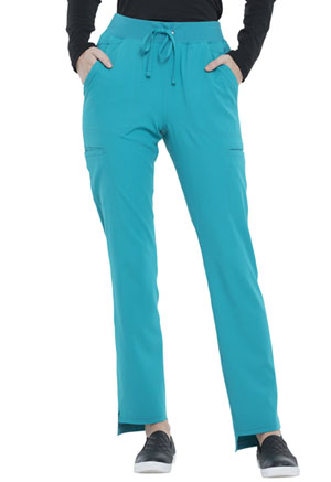 Elle Natural Rise Straight Leg Pant Teal Blue (EL167-TLB)