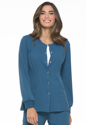 Elle Snap Front Warm-up Jacket Caribbean Blue (EL300-CAR)