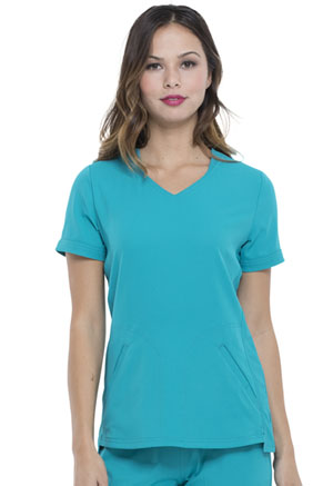 Simply Polished V-Neck Top (EL604-TLB) (EL604-TLB)