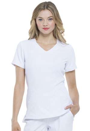 Elle V-Neck Top White (EL604-WHT)