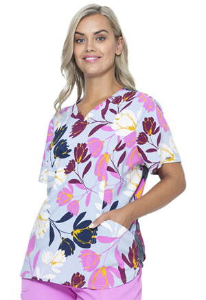 Prints a La Mode V-Neck Top (EL840-FLOI) (EL840-FLOI)