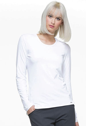 Simply Polished Underscrubs Knit Tee (EL915-WHT) (EL915-WHT)
