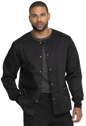 Genuine Dickies Industrial Strength Unisex Warm-up Jacket in Black (GD300-BLK)
