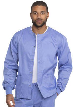 Genuine Dickies Industrial Strength Unisex Warm-up Jacket in Ciel Blue (GD300-CIE)