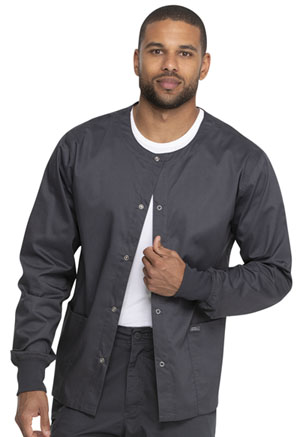 Genuine Dickies Industrial Strength Unisex Warm-up Jacket in Pewter (GD300-PWT)