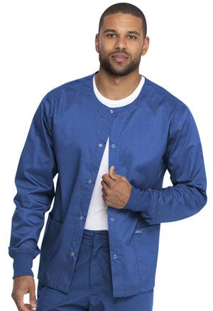 Genuine Dickies Industrial Strength Unisex Warm-up Jacket in Royal (GD300-ROY)