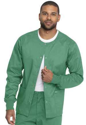 Genuine Dickies Industrial Strength Unisex Warm-up Jacket in Surgical Green (GD300-SGR)
