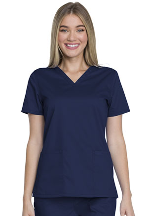 Dickies V-Neck Top Navy (GD600-NAV)