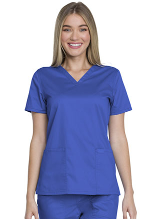 Genuine Dickies Industrial Strength V-Neck Top in Royal (GD600-ROY)
