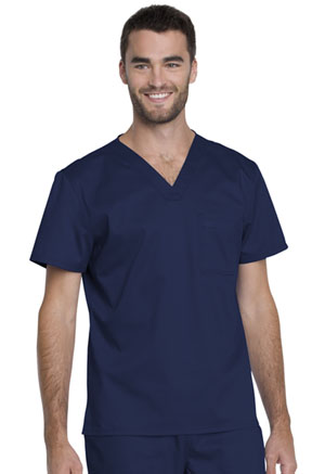 Genuine Dickies Industrial Strength Unisex V-Neck Top in Navy (GD620-NAV)