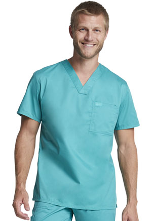 Genuine Dickies Industrial Strength Unisex V-Neck Top in Surgical Green (GD620-SGR)
